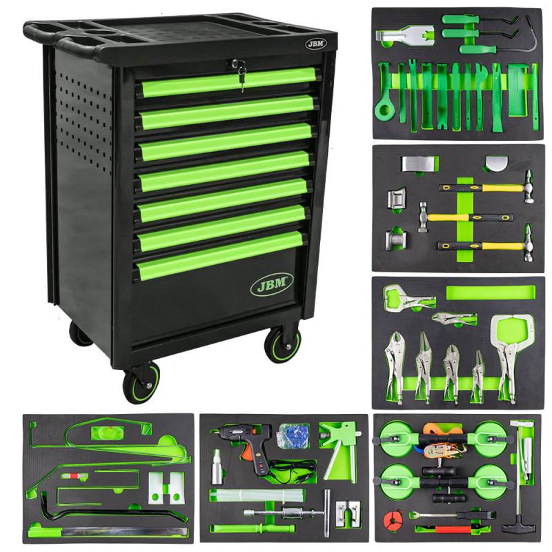 Servante d'atelier haute qualité spéciale carrossiers - verte